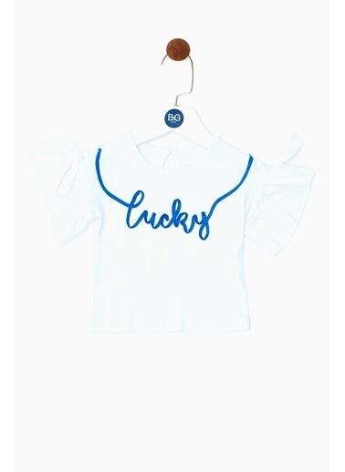 BG Baby Kız Bebek Beyaz T-Shirt 19SS0BG2532 Beyaz
